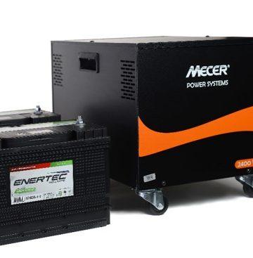 Mecer Inverter UPS BBone 2.4kVA (2400VA) Super Long Run with 2x 12V 105Ah Enertec Deep Cycle Batteries