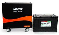 Mecer Inverter UPS BBone 1.2kVA Long Run Trolley (1200VA) with 12V 105Ah Enertec Deep Cycle Battery