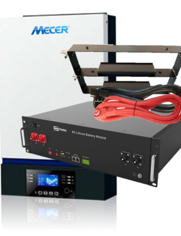 5kW Mecer Axpert KING Inverter with 3.6kWh Dyness B3 Lithium Battery Kit